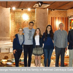 George Hecksher and his family in Mehmet Cetinkaya Gallery